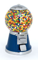 High quality gumball machines for starting a vending business. These gumball machines can dispense bulk candy, gumballs, bouncy balls, or toys in capsules